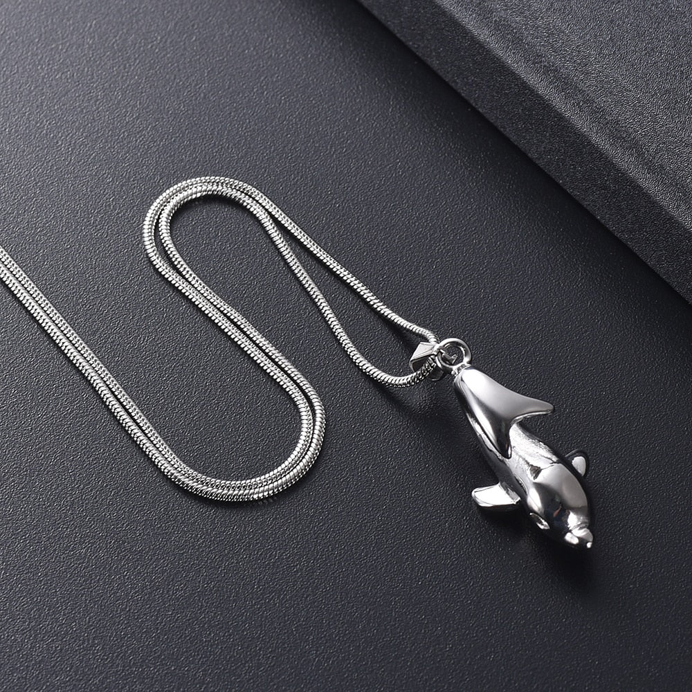 Playful Dolphin Urn Necklace