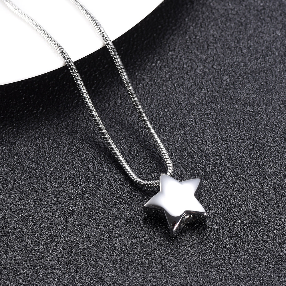 Mini Star Cremation Necklace