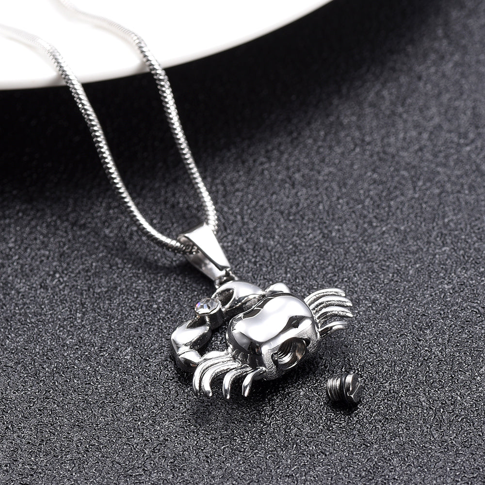 Cancer Crab Cremation Necklace