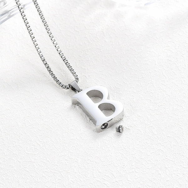 Letter Cremation Necklace