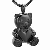 Teddy Bear Cremation Necklace