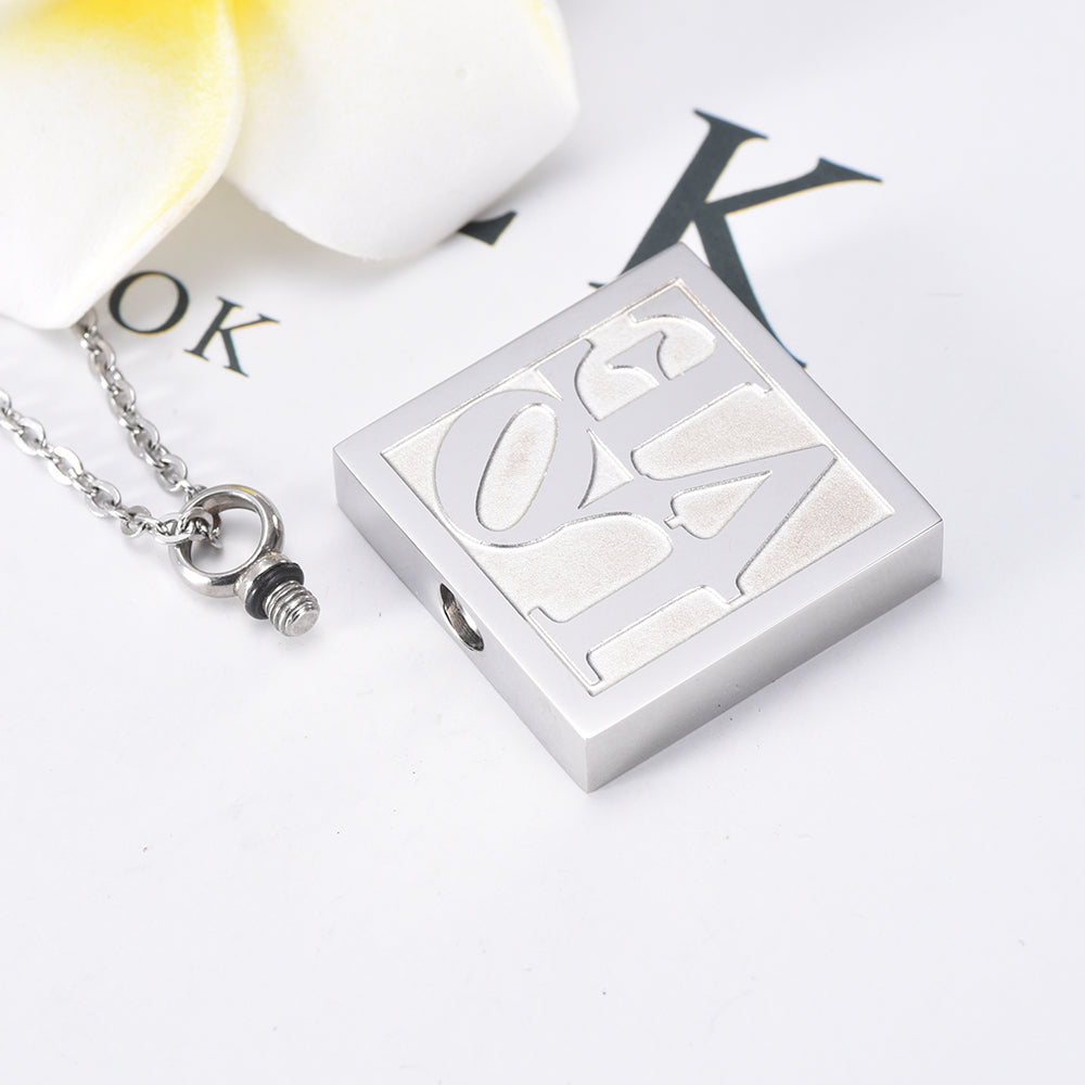 Treasured LOVE Stainless Steel Cremation Necklace