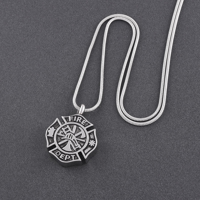 FireFighter Cremation Necklace