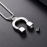 Horseshoe Cremation Necklace