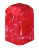 Cherry Red Keepsake Square Cultured Marble Urn
