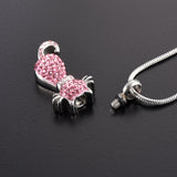 Pink Crystal Cat Cremation Jewelry