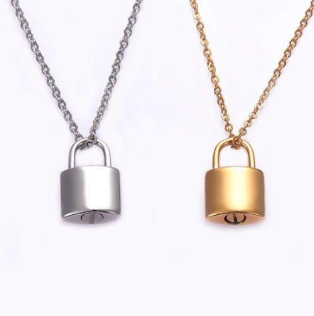 Padlock Cremation Necklace