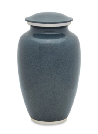 Simple Wolf Grey Cremation Urn
