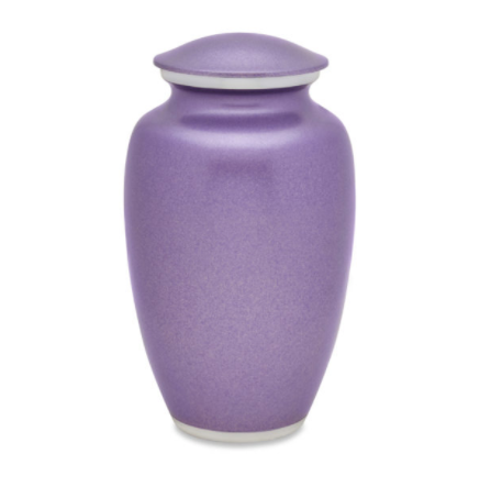 Simple Violet Blush Cremation Urn