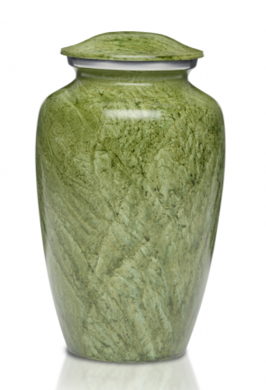 Simple Beautiful Green Cremation Urn