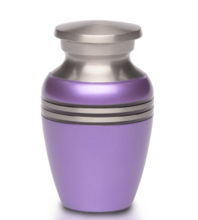 Simple Metallic Purple Mini Urn