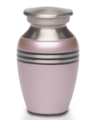 Simple Metallic Pink Mini Urn