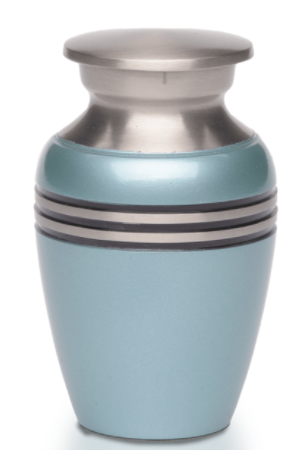 Simple Metallic Blue Mini Urn