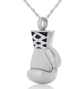 Boxing Stainless Steel Cremation Necklace