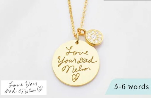 Disc signature pendant necklace with button diamond charm fd disc signature pendant necklace with button diamond charm funeral direct aloadofball Choice Image