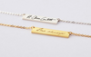 Bar Signature Pendant Necklace Funeral Direct