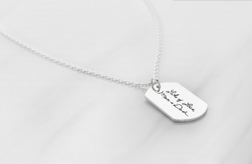 Engraved Dog Tag Necklace
