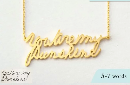 Personalized Handwriting Necklace