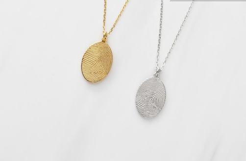 Oval Fingerprint Necklace