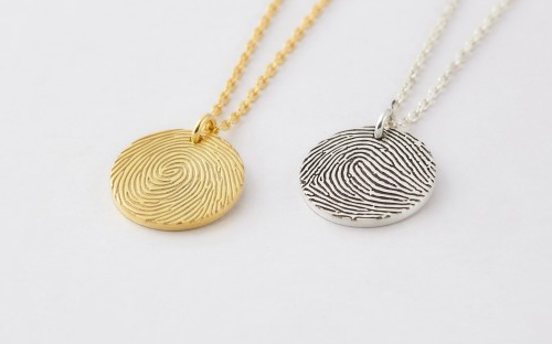 Perfect Circle Thumbprint Necklace