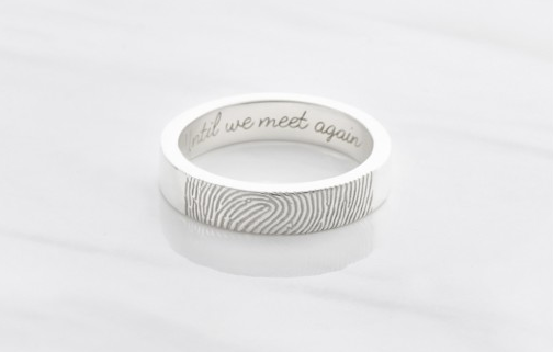 Dainty Custom Fingerprint Ring