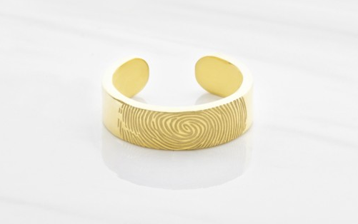 Adjustable Fingerprint Ring
