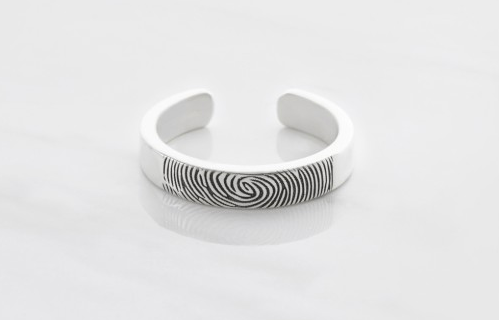 Slim Adjustable Fingerprint Ring
