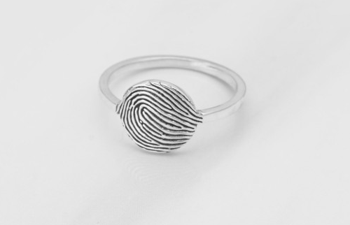 Engraved Face Fingerprint Ring