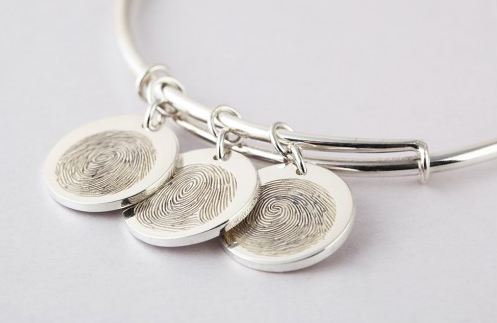 Fingerprint Charm Bracelet - Expandable