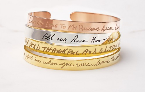 Personalized Engraved Cuff Bracelet