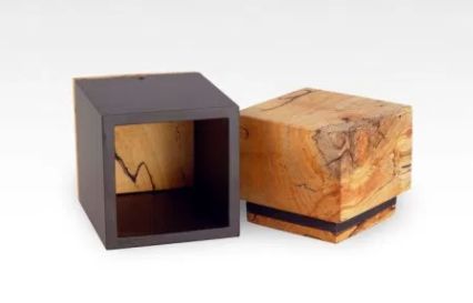 Spalted Birch Cremation Keepsake Urn