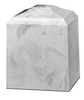 White Carrera Cultured Marble Cremation Urn