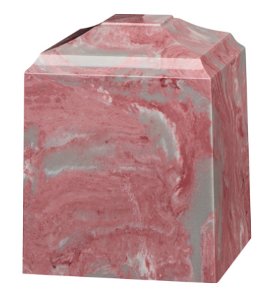 Mauve Cultured Marble Cremation Urn