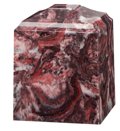 Fire Rock Cultured Marble Cremation Urn