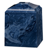 Navy Blue Cultured Marble Cremation Urn