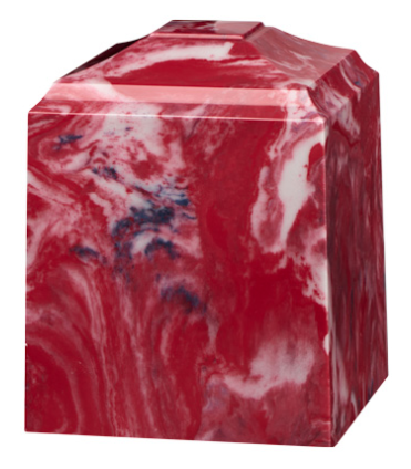 Patriot Red Cultured Marble Cremation Urn