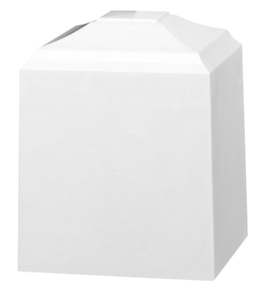 White Cultured Marble Cremation Urn