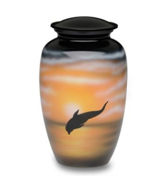 Jumping Dolphin Alloy Cremation Urn