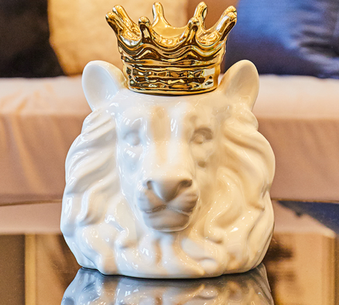 Lion King Ceramic Cremation Urn