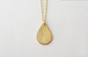 Teardrop Fingerprint Necklace