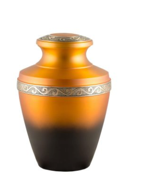 Burnt Orange Cremation Urn
