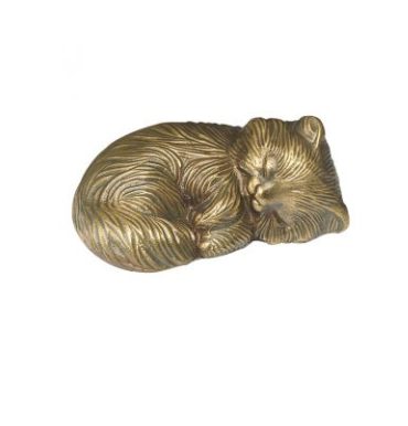 Peaceful Sleeping Cat Cremation Urn