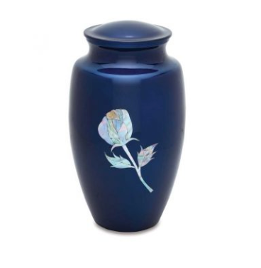 Budding Rose Mother of Pearl Urn