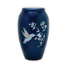 Hummingbird Mother of Pearl Urn
