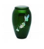Green Butterfly Mother of Pearl Urn