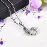 Fish Hook Urn Necklace