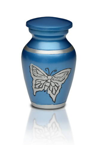 Blue Butterfly Keepsake Cremation Urn