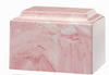 Pink Tuscany Cultured Marble Cremation Urn
