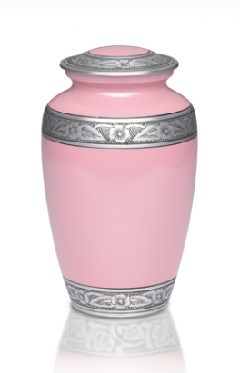 Simple Pink Cremation Urn