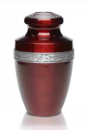 Simple Sapphire Red Cremation Urn